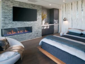 Long Fireplace Feature