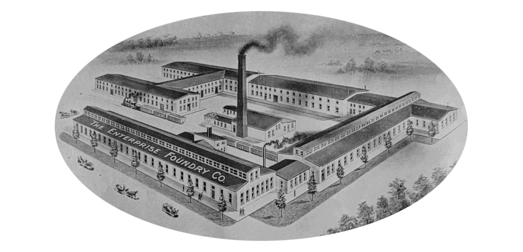 Illustration of The Enterprise Foundry Co. Factory